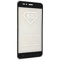 Защитное стекло 5D full glue для Xiaomi Redmi 5x / mi A1 - черный