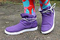 Фиолетовые осенние кеды оптом