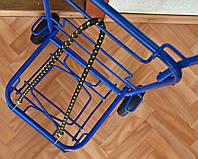 Тележка (кравчучка), цельнометаллическая, высота 100 см + резинка с двумя крючками 1м., фото 1