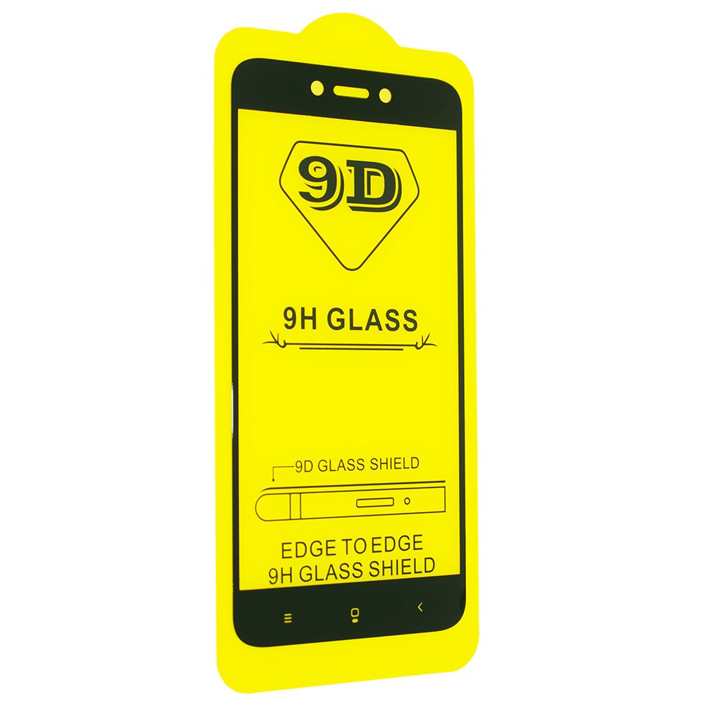 Защитное стекло 9D для Xiaomi Redmi 5A - черный