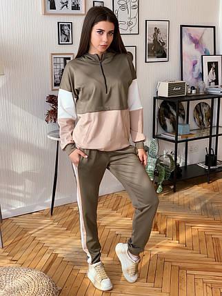 Женский спортивный трикотажный костюм 42-50 р, фото 2