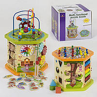 Развивающая деревянная музыкальная игрушка бизиборд 8 в 1 арт. 39186