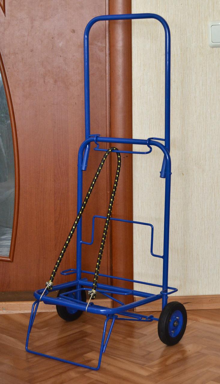 Тележка (кравчучка), цельнометаллическая, высота 110 см + резинка с двумя крючками 1м.