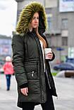 Женская парка куртка на меху (зимняя), фото 7