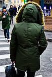 Зимняя куртка парка хаки на меху, фото 2