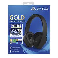 Гарнитура Sony PS4 Gold (Fortnite) Wireless Headset Black (9960102)