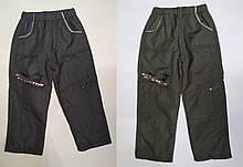 Штани на хлопчика з плащової тканини на флісі арт 5006 розміри оливка 122 р,сірі 104 р Угорщина..