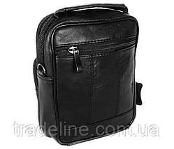 Мужская кожаная сумка Dovhani BL3016156 Черная 19 x 15 x 7 см, фото 2