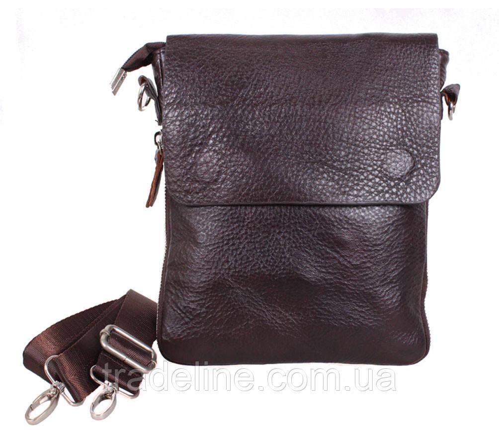 Мужская кожаная сумка Dovhani AMESS81388-2CF72 Коричневая 13 x 20 x 6 см