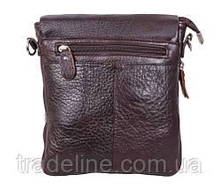 Мужская кожаная сумка Dovhani AMESS81388-2CF72 Коричневая 13 x 20 x 6 см, фото 2