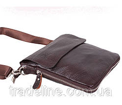Мужская кожаная сумка Dovhani AMESS81388-2CF72 Коричневая 13 x 20 x 6 см, фото 3