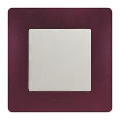 ETIKA Выключатель 1-клавишный с подсветкой, Белый