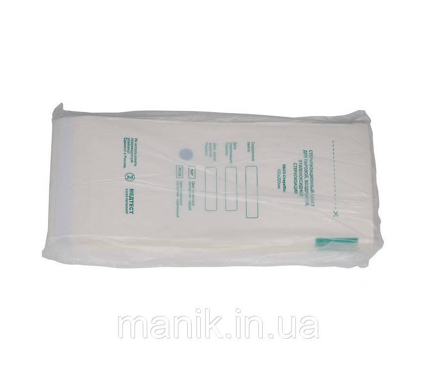 """Крафт пакеты """"Медтест"""" из белой бумаги 100х200мм"""