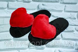 Тапочки домашние женские модные HEART размер 36-41 купить оптом со склада 7км Одесса