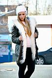 Зимняя женская куртка парка на меху (лама), фото 3