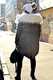 Зимняя женская куртка парка на меху (лама), фото 4