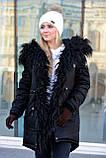 Зимняя женская куртка парка на меху (лама), фото 5