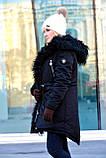 Зимняя женская куртка парка на меху (лама), фото 6