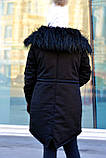 Зимняя женская куртка парка на меху (лама), фото 7