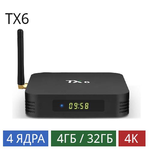 Смарт приставка Tanix TX6 4/32Gb Android 9.0