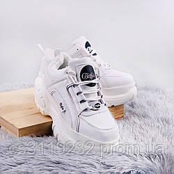 Женские кроссовки зимние Buffalo London (мех) (белые)