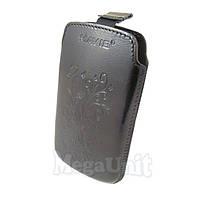 Кожаный чехол Samsung S5360 Galaxy Y. Mavis Premium flower Черный
