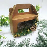 Коробка подарункова з декором 190х130х90 мм.