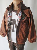 Детский костюм с курткой тройка.