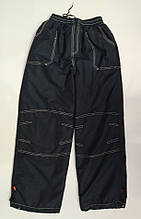 Штани на хлопчика з плащової тканини на флісі,синтепоні арт 5331 сині 28 р