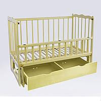 Кроватка деревянная Сон из ольхи - цвет слоновая кость