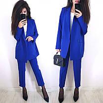 Костюм классический брюки и свободный пиджак с карманами, фото 2
