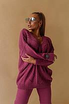 Костюм теплый женский вязаный штаны и кофта OG, фото 3