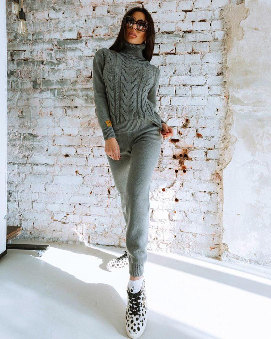 Костюм жіночий в'язаний штани і кофта OG шерсть