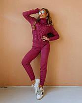 Костюм жіночий в'язаний штани і кофта OG шерсть, фото 2