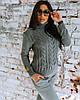 Костюм жіночий в'язаний штани і кофта OG шерсть, фото 4