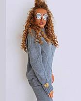 Крутий теплий жіночий в'язаний костюм штани і кофта шерсть OG, фото 3