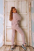 Женский ультра модный вязаный очень теплый костюм в квадрат, фото 3