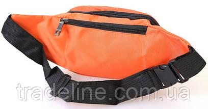 Сумка текстильная поясная Dovhani Q003-2Orange137 Оранжевая, фото 2