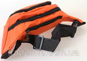 Сумка текстильная поясная Dovhani Q003-2Orange137 Оранжевая, фото 3