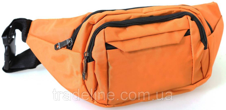 Сумка текстильная поясная Dovhani Q003-4Summer149 Оранжевая