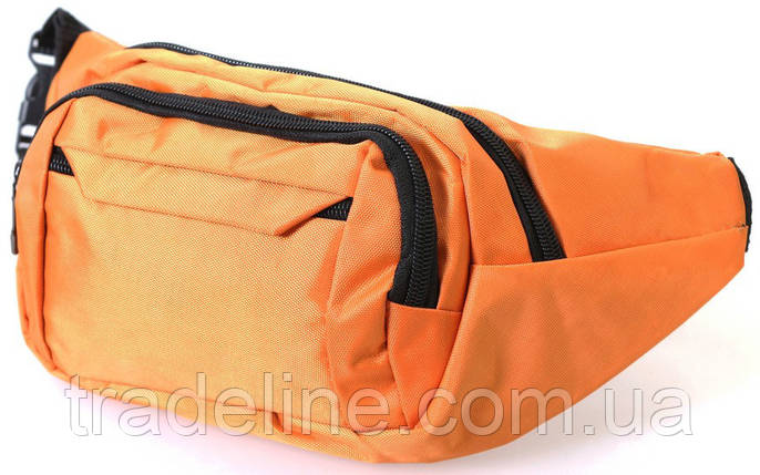Сумка текстильная поясная Dovhani Q003-4Summer149 Оранжевая, фото 2