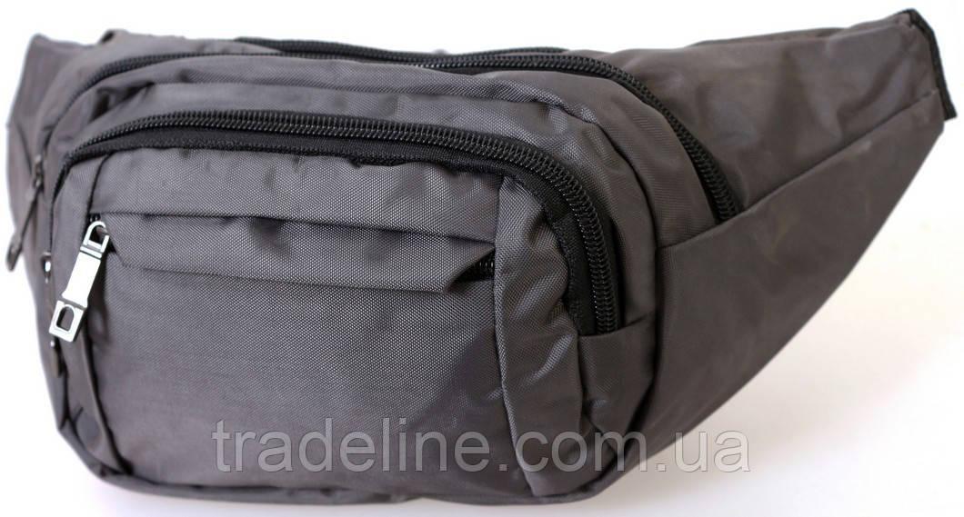 Сумка текстильная поясная Dovhani Q003-8DarkGrey154 Серая