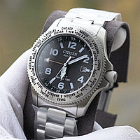 Мужские часы CITIZEN  BJ7100-82E INTERNATIONAL PROMASTER E-D WORLD TIME GMT