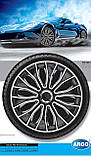 Колпаки колесные Voltec Pro White Black R14, фото 2