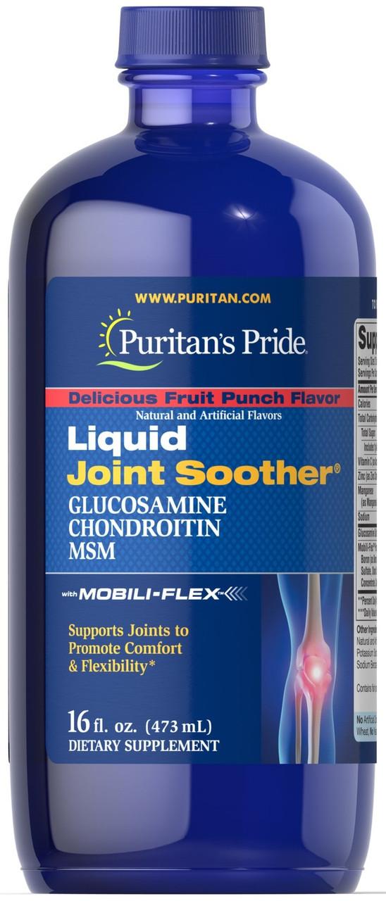 Хондропротектор Puritan's Pride - Glucosamine Chondroitin MSM Liquid Joint Soother (473 мл)