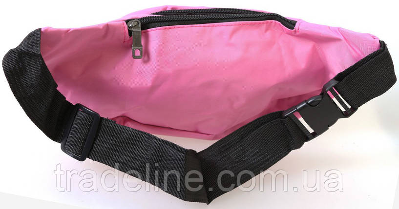 Сумка текстильная поясная Dovhani Q003-9SkyRose155 Розовая, фото 2