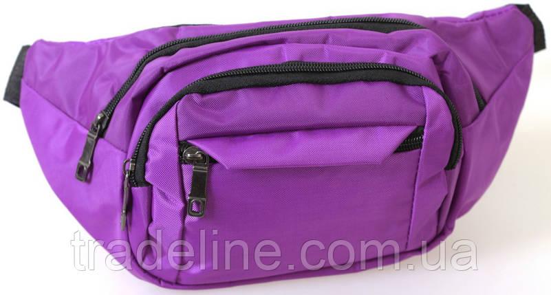 Сумка текстильная поясная Dovhani Q003-10Purpish156 Фиолетовая, фото 2