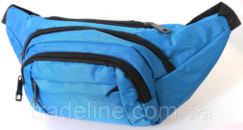 Сумка текстильная поясная Dovhani Q003-15SBlue161 Голубая, фото 2