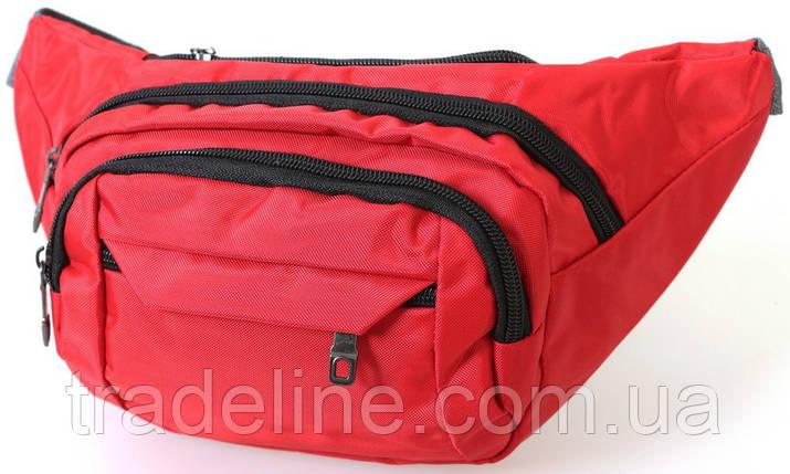 Сумка текстильная поясная Dovhani Q003-19SkyRed165 Красная, фото 2