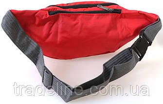 Сумка текстильная поясная Dovhani Q003-19SkyRed165 Красная, фото 3